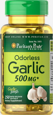 Odorless Garlic 500 mg x 250 Rapid Release Softgels - 24HR DISPATCH