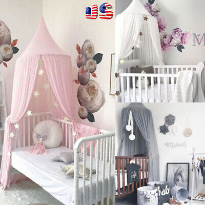 Princess Bed Kids Canopy Hanging Dome Lace Mosquito Net for Crib Curtain Bedding