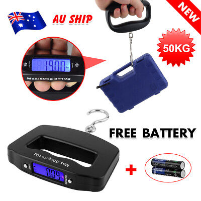 Electronic Digital Luggage Scale Weight 50KG Hanging Portable Travel