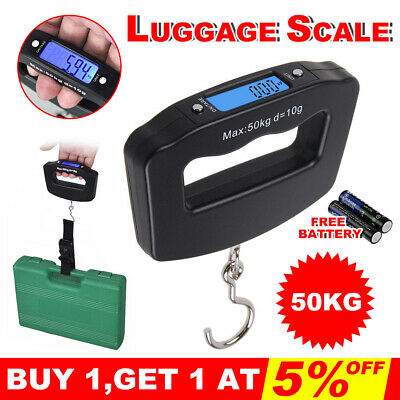 Electronic Travel Digital Luggage Scale Weight Hanging Portable 50KG