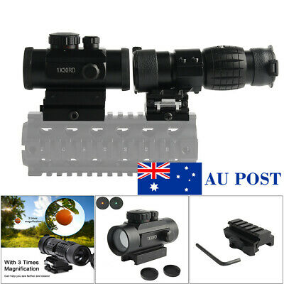 Tactica Holographic 1X30 Red Green Dot Sight+3X Magnifier Sight Scope 20mm Rail