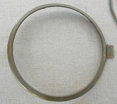 Two Solid Brass Antique Clock Bezels