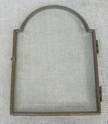 Solid Brass Antique Clock Bezel & Original Bevelled Glass