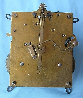 Un-named Eight Day Hour and Half Hour Strike Mantel Clock Movement