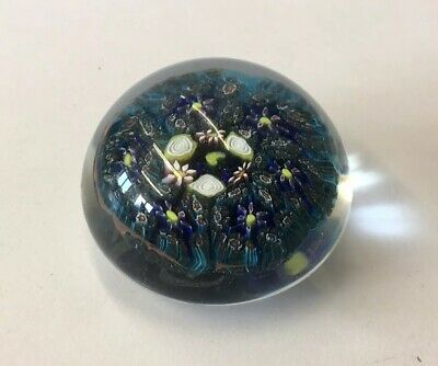 Vintage ALT Murano Glass Paperweight Millefiori 3cm In Height