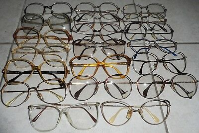 Vintage Italy France Germany Eyeglasses Lot 20 Metal & Plastic Frames Nos