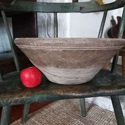 A Large Primitive Sycamore Dairy Bowl 14.75 Inches