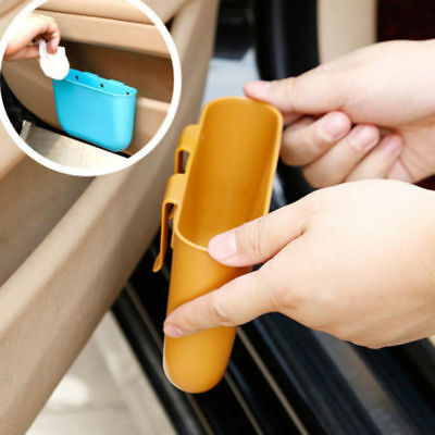 1PCS Mini Hanging Auto Car Garbage Trash Case Holder Storage Box Bin Rubbish Can