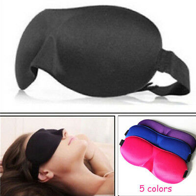 3D Eye Mask Soft Aid Padded Travel Shade Cover Relax Rest Sleeping Blindfold RU