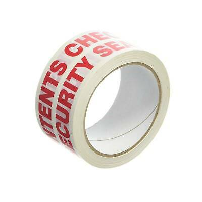 Contents Checked and Security Sealed Tape - 48mm x 66m - Pack of 6 Rolls