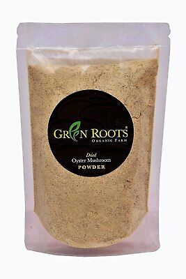 Dried Oyster Mushroom Powder 100gms- Healthy and Various Minerals- vegetarians