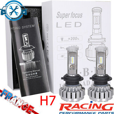 2 110W 20000LM H7 LED Ampoule Voiture Feux Phare Lampe Remplacer HID Xénon 6500k