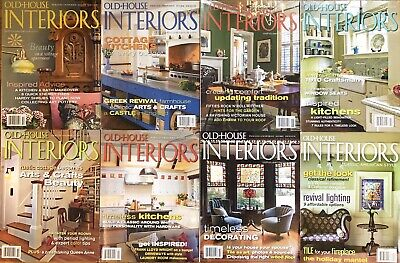 Old House Interiors Home Decor Design Magazine Lot Of 8