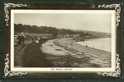 Postcard  : Isle of Arran beach at village of Lamlash, posted 1911 a real photo