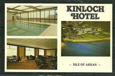 Postcard  : Isle of Arran Blackwaterfoot, multi-view of Kinloch Hotel