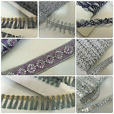 Sequin Trims & Fringe By The Metre