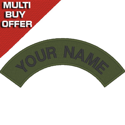 Personalised, Embroidered Name Tag, Patch, CLUB, LOGO, SCOOTER, BIKER, MCC.