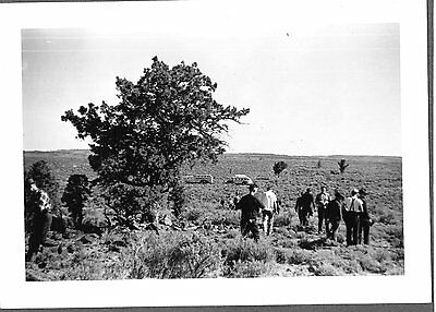 Vintage Photograph 1937-40 Forestry Students Pinon Juniper Oregon Old Bus Photo