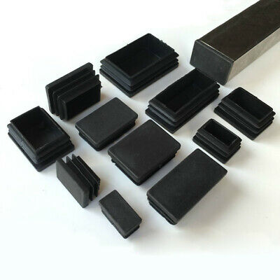 Rectangle Plastic Black Blanking End Cap Tube Pipe Insert Plug Bung Steel 55Size