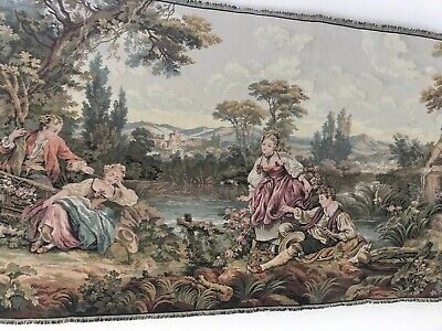 VTG Large NEW Victorian Tapestry Textile Art $165