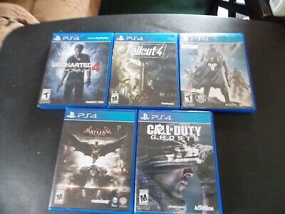 ps4 games call of duty, fallout 4 etc playstation 4 games  five total games