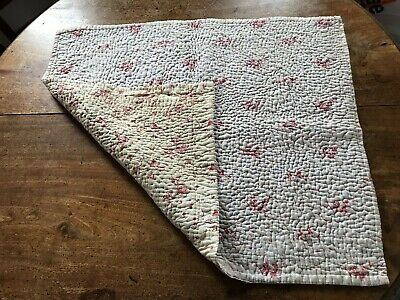Welsh Hand Stitched Cot Quilt Blanket from Mid West Wales