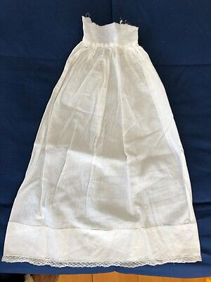 Antique Edwardian Child's / Baby Cotton and Lace Christening Slip
