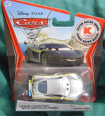 Disney Pixar Cars 2 Silver Racer Series LEWIS HAMILTON w/METALLIC FINISH 2012