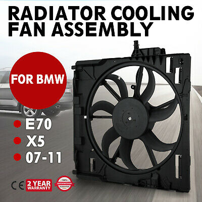 Pop Engine Radiator Cooling Motor Fan Assembly for BMW E70 X5 2007-2010 Each