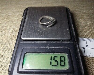 Rare Perfect Ancient Silver jewelery Ring Viking Period 9-11 century A.D.  #236