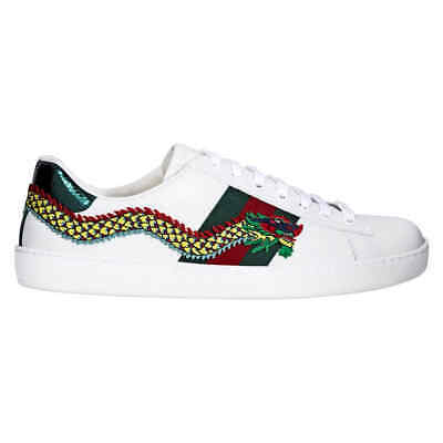 075818ad7 GUCCI ACE LOW Top Embroidered Dragon Sneaker- Size 6 - $517.65 ...