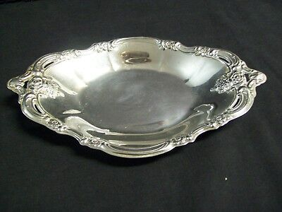 Vintage Community Silver Plated Oval Trinket / Candy Tray Ornate Design 9""