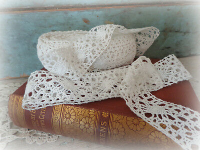 vintage lace trim edging white 1940s sewing notions supplies knit crochet lace