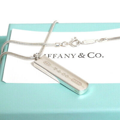 b10401e86 Auth Tiffany & Co. 1837 Bar Snake Chain Necklace Sterling Silver 925  44cm/17.4