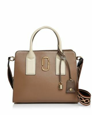 7b08668a5542 MARC JACOBS Big Shot Color Block Saffiano Leather Satchel French Gray Multi  NWT