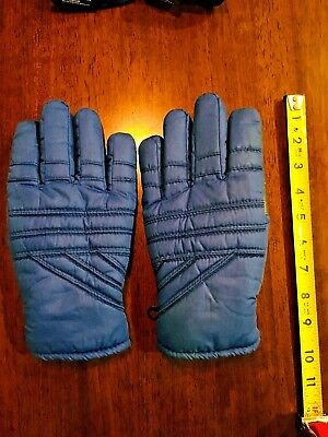 THINSULATE GLOVES Mens blue ski snowboard Rayon knit foam lined Mens SIZE L