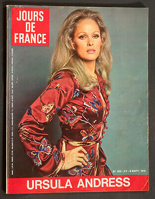 'jours De France' Vintage Magazine Ursula Andress Cover 8 September 1970