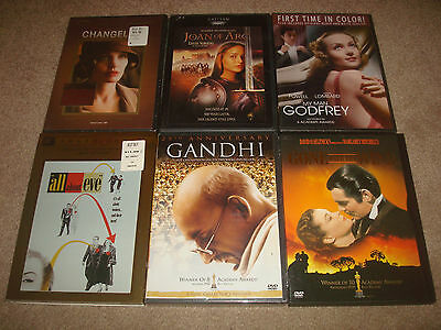 Academy Award Oscar DVD LOT Gone With the Wind Gandhi Joan of Arc All About Eve