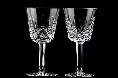 2 Waterford Crystal Lismore Claret Wine Glasses