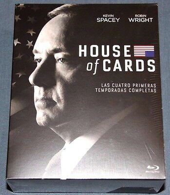 HOUSE OF CARDS  Temporadas 1 2 3 4  - BLURAY blu ray