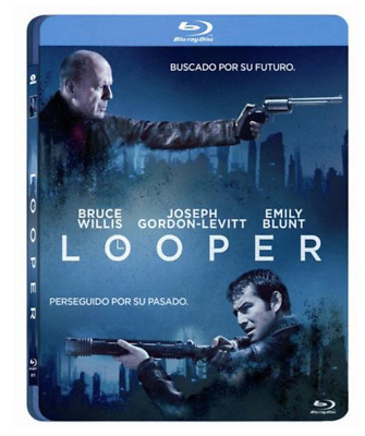 LOOPER  - BLURAY  BLU RAY - Bruce Willis - STEELBOOK