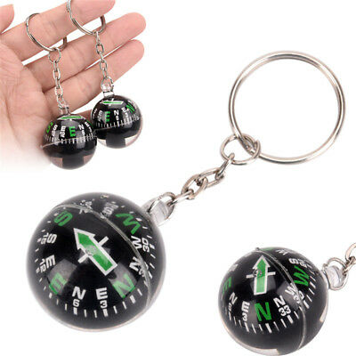 28mm Ball Compass Keychain Navigator Hiking Camping Outdoor Survival GN
