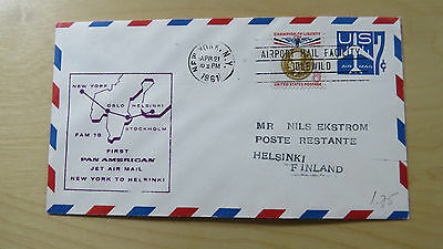 FFC USA First Flight Pan American Fam 18 New York Helsinki Helsingfors 1961