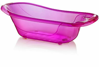 50 Litre Large Plastic Baby Bath - Purple Aqua Baby Tub - Kids - Infant