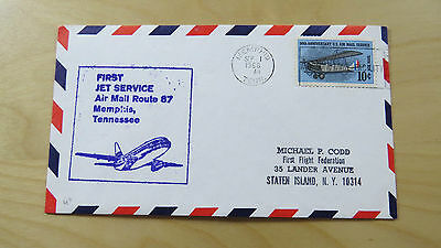 FFC USA First Flight Route 87 Airplane 50th Anniversary U.S. Memphis Norfolk '68
