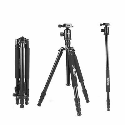 Zomei Z818 Pro Compact Black Tripod Monopod,Ball Head for DSLR Camera Nikon Etc