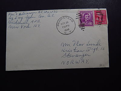 Cover United States New York Hempstead Balloon Postmark to Bergen Norway 1949