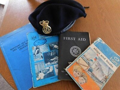 vintage coast guard Beret & Nautical books