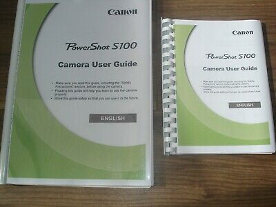 ~PRINTED~ Canon Powershot S100 User guide Instruction manual A4 or A5