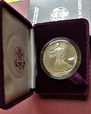 1986-S Silver American Eagle Proof 1 oz US Mint Coin with Box and COA